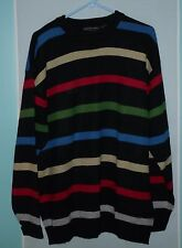 Jordan Craig Collection, Men's Colorful Sweater, Horizontal Stripe, Large
