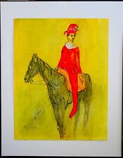 """OLD MASTER PICASSO DRAWING """"HARLEQUIN ON A HORSE"""" ( SHIPPING IS FREE )"""