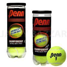 12 x Penn Championship Tennis Balls Extra Felt 1 Dozen 4 x 3 Ball Can Brand New