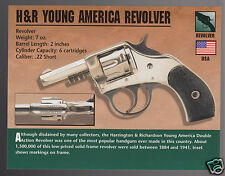 H&R YOUNG AMERICA REVOLVER Harrington & Richardson Hand Gun Firearms PHOTO CARD