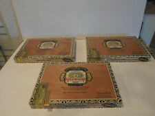 "LOT OF 3  EMPTY ""QUEEN B"" ARTURO FUENTE WOOD CIGAR BOXES GREAT FOR CRAFTS"