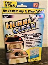 Hurriclean 3-Pack Automatic Toilet Bowl/Tank Cleaner Remover FAST SHIP