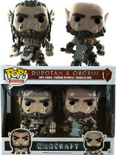 FUNKO POP VINYL WARCRAFT MOVIE DUROTAN AND ORGRIM 2 PACK FIGURE SET EXCLUSIVE