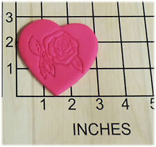 Rose in Heart Fondant Cookie Cutter and Stamp #1316
