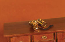 Pair of Brass Binoculars, Doll House Miniatures, 1.12 Scale Accessory