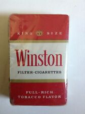 WINSTON CIGARETTES SEALED DECK VINTAGE PLAYING CARDS