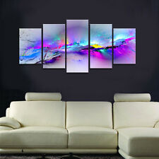 Framed Abstract Canvas Art Print Photo Pic Wall Home Decor Poster Purple Colors