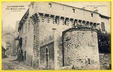 cpa Le Velay LA CHAISE DIEU Maison ROMANE Machicoulis Architecture Historique