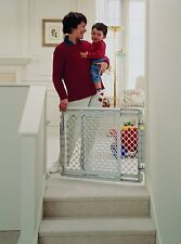North States Wide Stairway Baby/Pet Mounted Swing Gate - White | 8679
