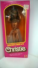 Vintage Mattel Golden Dream Christie Barbie African American-Hard to find NIB