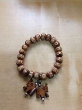 TIBET WOOD ELEPHANT HANGING FASHION CHARM BEADS ROSARY BRACELET