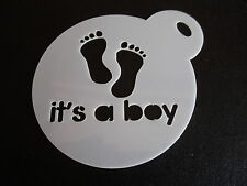 Laser cut small it's a boy design cake, cookie,craft & face painting stencil