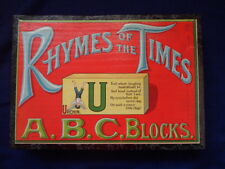 Vintage Rhymes of the times abc blocks nursery christening