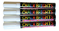 1 x WHITE liquid Chalk Pen Marker Glass Window 6mm Reversible nib