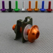 1pcs M6 Motorbike Fairings Bolts Kits Spring Nuts for KTM Orange