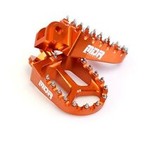 NEW MDR PRO SERIES CNC WIDE FOOT REST PEGS MOTOCROSS ENDURO KTM EXC 250 98 - 05