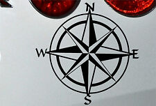 Compass Travel Wanderlust Vinyl Decal Sticker 150mm jap vw (bk)