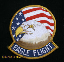 "4"" F-15 EAGLE FLIGHT PATCH USA FLAG USAF AFB PILOT AIR CREW WING US AIR FORCE"