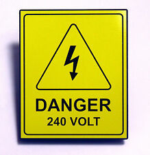 "ABS Safety Yellow Label - ""Danger 240 Volt"""