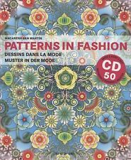 Patterns In Fashion New Book Sealed CD ROM Pattern Design Fashion Designers Book