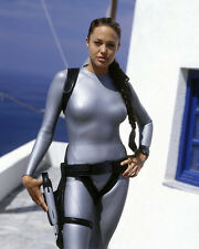ANGELINA JOLIE SKIN TIGHT SILVER COSTUME TOMB RAIDER