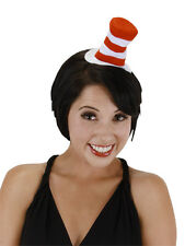 Dr. Seuss Cat In The Hat Child Kids Adult Red White Mini Hat Headband Elope New