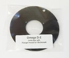 Lens Disc for Omega D Enlarger, Generic maker drilled for Wollensak lens flange