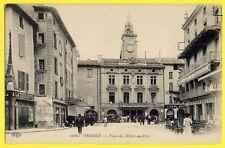 cpa ORANGE (Vaucluse) Place de l'Hôtel de Ville Enseigne Commerce TOUR EIFFEL