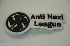 ANTI NAZI LEAGUE FASCIST HITLER Embroidered Sew Iron On Cloth Patch Badge NEW