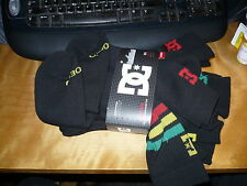 6 Pack   DC DCShoeco Gray Crew Skate socks Black Rasta. Large 10-13 $24