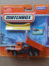 Matchbox Real Working Rigs OSHKOSH P-SERIES SNOW PLOW Orange
