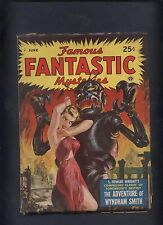Famous Fantastic Mysteries  Magazine pulp  6/50 Classic Saunders Robot & Blonde