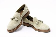 NWOB. $995 Brunello Cucinelli Men's Leather Suede Fringed Tassel Loafer 42.5/9US