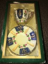 "CLASSIC COLLECTABLE ""MY TREASURE"" GENUINE PORCELAIN CUP AND SAUCER HAND PAINTED"