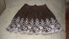 CHARLOTTE RUSSE SKIRT SMALL EMBROIDERED LACE TRIM