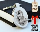 Metal Personalised Oval Keyring PHOTO ENGRAVED FREE P&P Father's Day Jewellery
