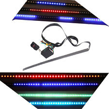 55cm 48 5050 SMD RGB LED Car Flash Knight Rider Light Strip Waterproof 7 Colors