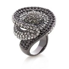 PRINCESS AMANDA HEMATITE TONE SWIRL RING SIZE 10 HSN $69.95 SOLD OUT