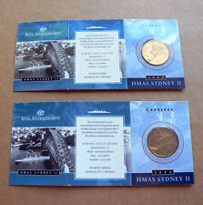 2000 HMAS SYDNEY II $1 C S Mintmark Set one dollar coin World War II WWII ship