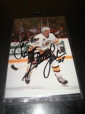 """Steve Leatch Boston Bruins Autographed 4 x 6"""" Post Card #27  To Lisa / Near Mint"""