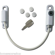 Cable Window Restrictor. Child Safety Lock. Short Body White