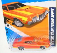 2012 Hot Wheels MUSCLE MANIA FORD #117 * '72 FORD GRAND TORINO SPORT * EXCLUSIVE