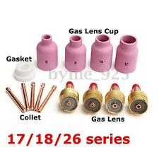 14Pcs Welding Kit Gas Lens-Cup-Collet 020''~1/8'' T7 for TIG Torch 17/18/26 Set