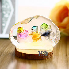 Crystal Cute Snowmans Figurines Glass Paperweights Collectibles Ornaments Decor