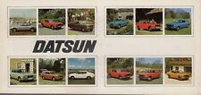 Datsun Nissan 1976-77 UK Brochure Cherry Sunny Violet Bluebird Laurel 260C 260Z