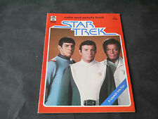 CINEMA COLORIAGE COLOR AND ACTIVITY BOOK STAR TREK 1979 ROUGE