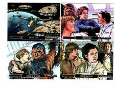 Star wars Illustrated The Empire Strikes Back 100 card set +WRAPER