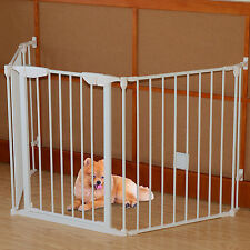 Non associate Baby Animale Domestico Safety Gate 3 Pannello Metallo Barriera Indoor Home VANO PORTA Hall