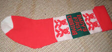 Knitted Christmas Stocking - Babys First Christmas
