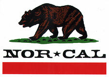 Nor Cal - Republic Skateboard Sticker skate snow surf board bmx guitar van sk8